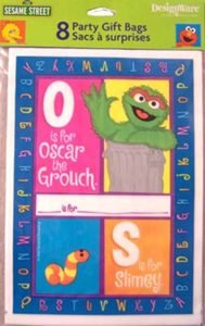 "Sesame Street ""P is for Party"" Treat Bags - 8 Count"