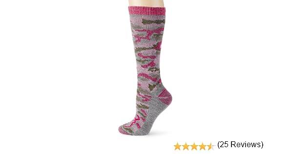 2 Pair Pack Browning Hosiery Womens Ladies Pink Camo Wool Blend Sock