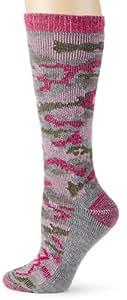 Browning Hosiery Women's Ladies Pink Camo Wool Blend Sock, 2 Pair Pack (Pink Camo, Medium)