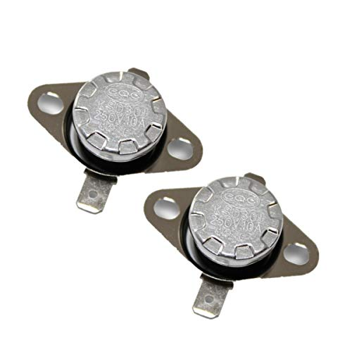 CompStudio 2 Pcs Temperature Controlled Switch Thermostat KSD301 145 Celsius Normal Close N.C 10A 250V