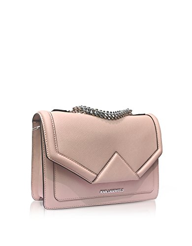 Karl Lagerfeld Borsa A Spalla Donna 76KW3045NUDE Pelle Rosa