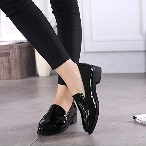 and comfortable black work shoes flat
