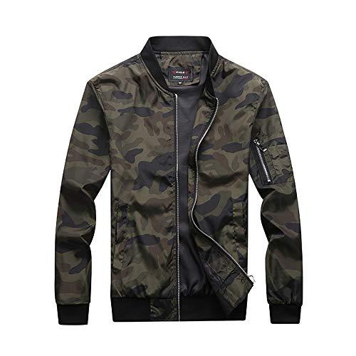 - URBANFIND Men's Slim Fit Lightweight Sportswear Jacket Casual Bomber Jacket US L Camo Green