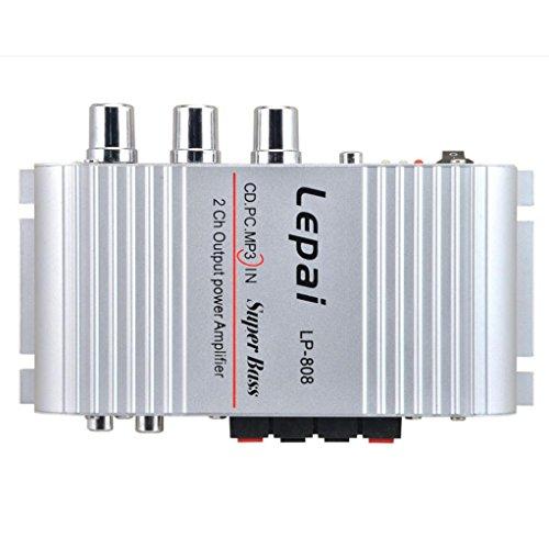 DDLBiz(TM) Mini Hi-Fi Audio Stereo Amplifier 12V 20W X2 RMS Amp For Home Car Silver by DDLBiz (Image #7)'
