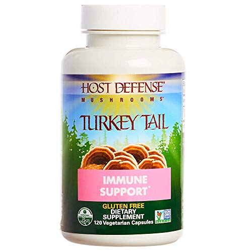Host Defense - Turkey Tail Mushroom Capsules, Naturally Supports Immune Response, Non-GMO, Vegan, Organic, 120 Count
