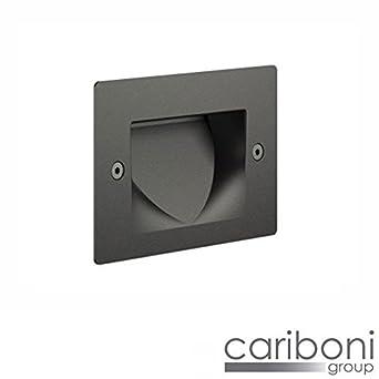 Cariboni Fin XS LED 4 W 300LM 3000 K segnapasso Foco empotrable externo Negro: Amazon.es: Iluminación