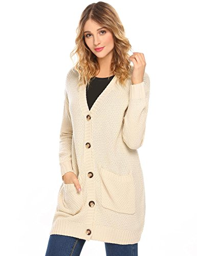 Ivory Cardigan Sweater - 5