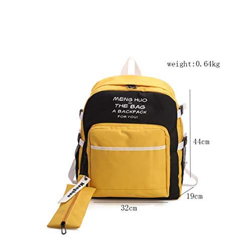 Mochila Portatil Casual Mujer Shopper Amarillo Nailon Pequeña Mochilas Fashion Impermeable Escolares Skitor Niña Escolar Diario Zq8tEa