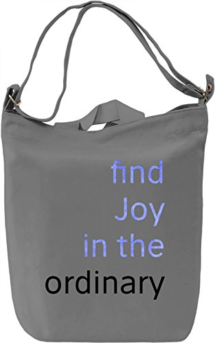 Find Joy Borsa Giornaliera Canvas Canvas Day Bag  100% Premium Cotton Canvas  DTG Printing 