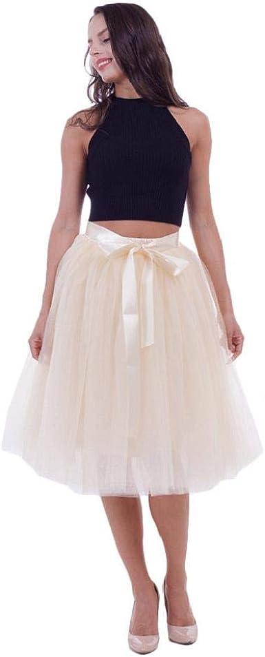 CANDLLY Faldas de Fiesta Mujeres Elegante Tutu Faldas de Botas ...