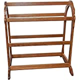 Allamishfurniture Amish Hardwood Modern Two Quilts Rack Waterfall Floor UNASSEMBLED (Fruitwood)