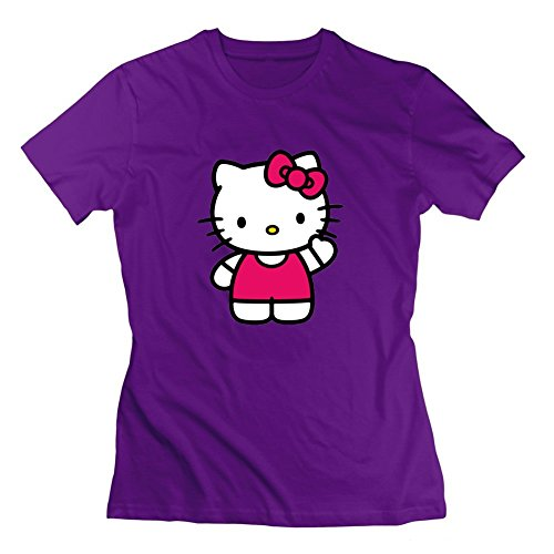Personalized Purple Women Cool Medium Speacial Hello Kitty Jpeg Cotton (Hello Kitty Custome)