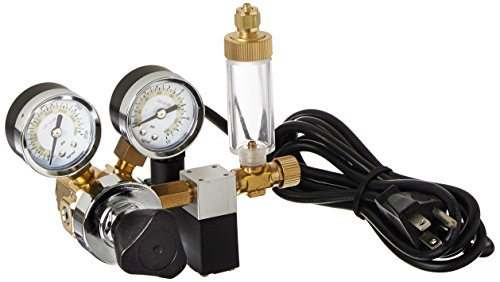 Milwaukee Instruments MA957 Dual-Valve CO2 Adjustable Flow Pressure Regulator, Dual Reading psi and kg/cm ()
