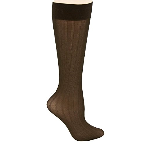 Berkshire Trend Rib Opaque Trouser Socks (Pack of 3) (6588) -CHOCOLATE -1SZ (Berkshire Rib)