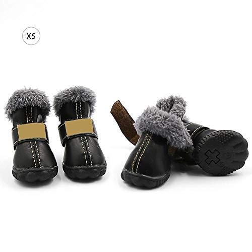 Pu Et Chaud Tissu Black Polaire L'automne x xs Domestique Animal Daim Cuckoo Antidérapant Chien Pour Imperméable L'hiver Chaussures 68qgxU7wP