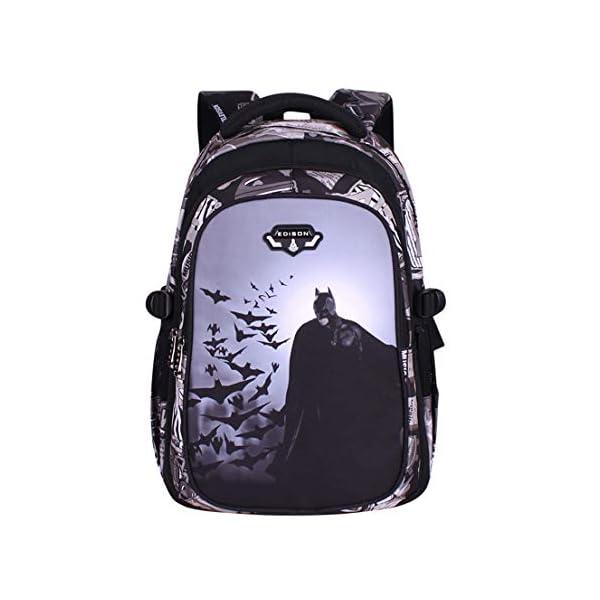 MODRYER Batman Zaino per Bambini Kid Borsa Ragazze Bookbag Ragazzi Schoolbag Leggero Zaino 3D Stampa Student Daypack… 2 spesavip