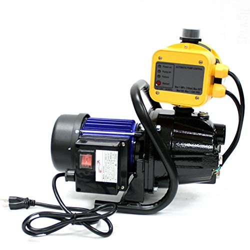 9TRADING 1.6HP Water Booster Pressure Pump with 145PSI Automatic On/Off Control