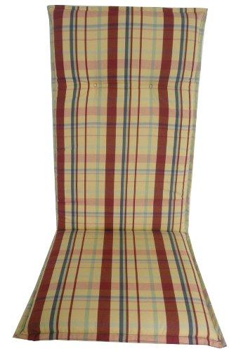 Beo - Cuscino Per Sedie Da Giardino Lunghezza Larghezza Totale Circa 119Cm / Sede Circa 48Cm / 5 Centimetri Di Spessore D704 Barcelona HL