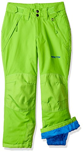 Arctix Youth Snow Pants with Reinforced Knees and Seat, Lime Green, ()