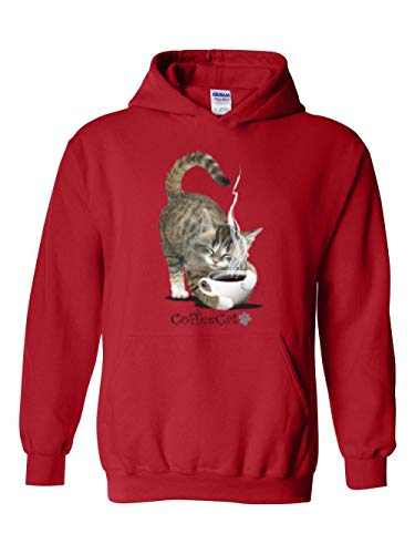 Cat Lover`s Gift Coffee Cat Paw Unisex Hoodie (MR)