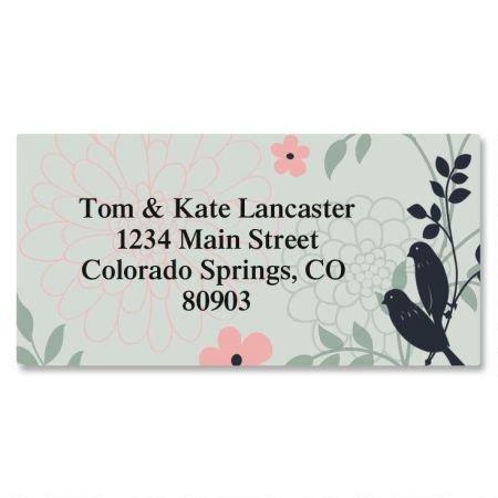 love Birds Personalized Border Return Address labels- Set of 144 1-1/8