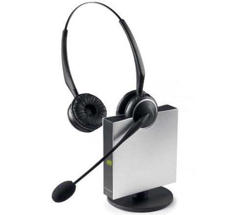 Jabra GN9125 Flex Duo Convertible Dual Earpiece Over the Head / Ear Wireless Headset for Deskphone (Renewed)