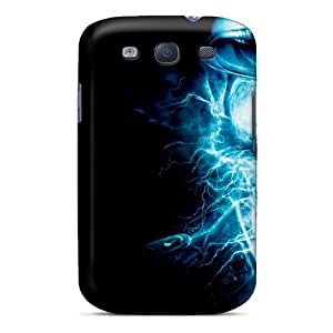 Louisopson Premium Protective Hard Case For Galaxy S3- Nice Design - Electricity Skull