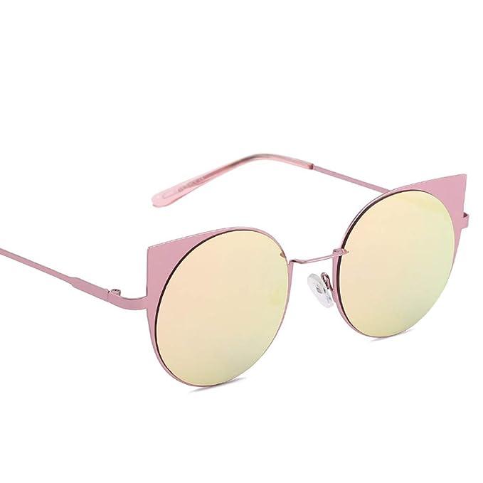 a95ef5b993 MVPKK Gafas de Sol Ojos de gato Oversized Mujer Hombres Gafas de Sol Color  Caramelo Retro
