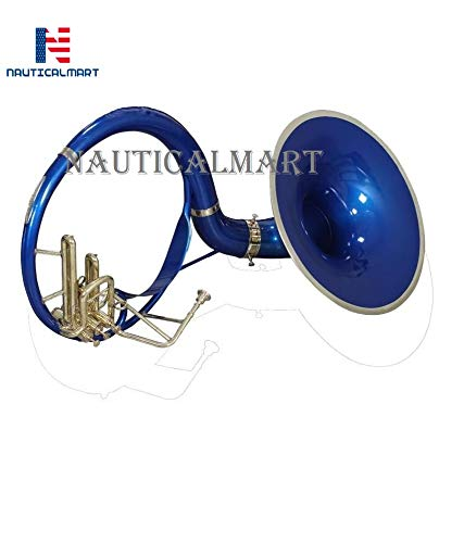 Sousaphone Bb Big Bell 25'' Blue Finish With Bag by NauticalMart (Image #2)