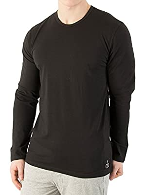 Calvin Klein Men's Longsleeved Pyjama T-Shirt, Black