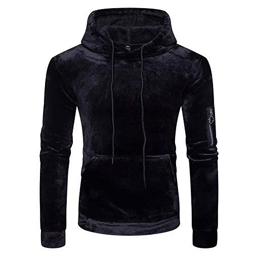 En Homme À Café Vêtements Suk Zhrui Noir Capuche couleur Fermeture Sweat Cn Éclair De 8 Taille À Base Basique XnxwqwI