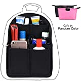Felt Backpack Organizer Insert, Round Top Purse Organizer, Backpack Purse and Travel Backpack For Women, Backpack For Mummy Travel Backpack For Man Coach MCM LV JanSport Anello Black Small
