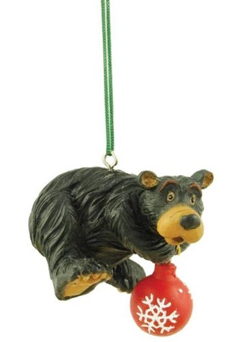 Bear Holding a Ball As If Decorating Tree, Collectible Ornament, ()