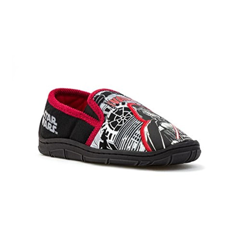 Star Wars Kids Black & Red Full Slippers - Size 7 - Multicolour