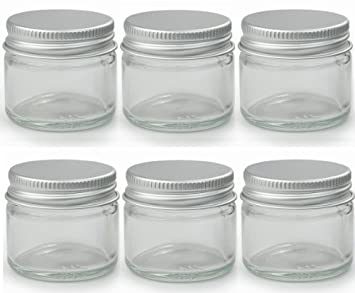 53142de9d93f 6 x Small 15ml Clear Glass Jars/Pots. Suitable for Lip Balms, Herbs ...