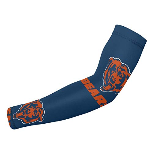 Jacoci Chicago Bears Cooling Arm Sleeves Sun UV Protection for Men & Women Sports ()