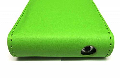 Eccellente Migliore di Apple iPhone 4 4S Verde diapositive Flip con due fessure per carta PU Leather Case Cover per Apple iPhone 4 4S