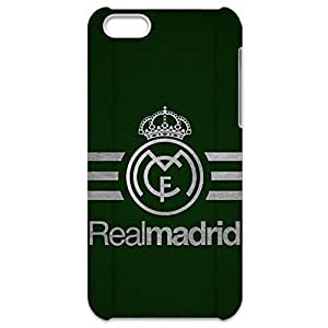 Customized Real Madrid FC Team Logo Shockproof Slim 3D Hard Plastic Case LA6K081 For Iphone 5C