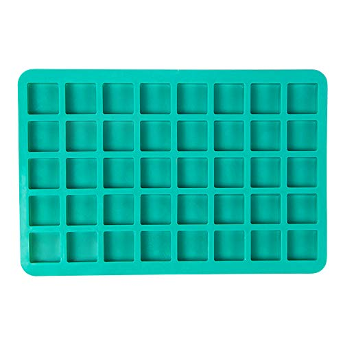 Webake Candy Molds Silicone Chocolate Molds 40-Cavity Square Baking Molds for Homemade Caramel, Hard Candy, Truffle Chocolate, Keto Fat Bombs, Gummy, Jello, Peanut Butter Fudge (Chocolate Square Mold Silicone)