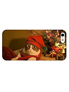 3d Full Wrap Case For Ipod Touch 5 Cover Animal Christmas Cat11