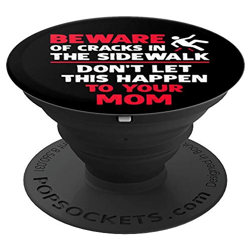 Step Crack Break Back Sarcastic Funny Superstitious Meme PopSockets Grip and Stand for Phones and Tablets]()