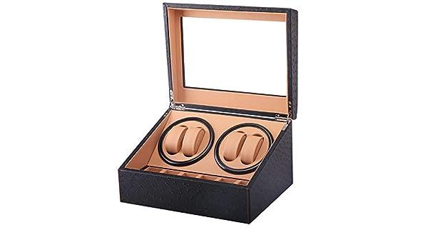 6+4 Automático Watch Winder Box Cuero De La PU Cajas Giratorias para Relojes Automatico Caja De Reloj Almacenamiento Colección Monitor Doble Cabeza Silencio Motor Caja WWB0911: Amazon.es: Relojes