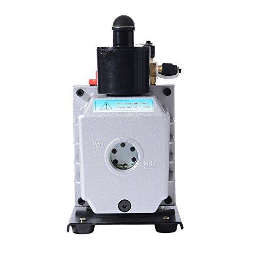 HomCom Single Stage 7 CFM Rotary Vane 1/2 HP HVAC Refrigerant Vacuum Pump by HOMCOM (Image #4)