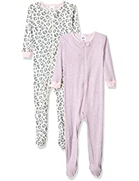 Baby Girls' 2-Pack Footed Unionsuit