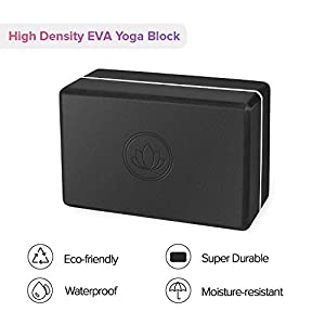 Levoit Premium Yoga Blocks 2 Pack & Strap, High Density EVA Foam Yoga Bricks to Support, Deepen Poses, Improve Strength, Balance and Flexibility, Lightweight, Odor Resistant and Moisture-Proof