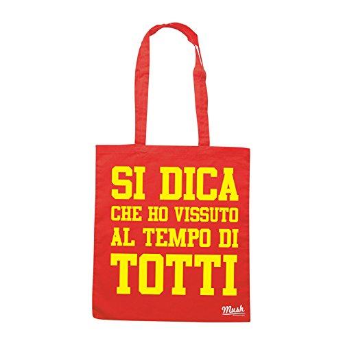 Borsa TOTTI RITIRO - HO VISSUTO AL TEMPO DI TOTTI - Rossa - SPORT by Mush Dress Your Style
