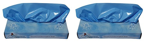 - Heaven Scent Scented Hygiene Bags, 100 Total Bags (Pack of 2) for Disposal of Adult Diapers Feminine and Incontinence Products
