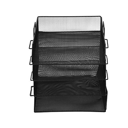 Clearance Sale!DEESEE(TM)Office Supplies Stationery Metal File Holder Multi-Layer Stackable File Tray -