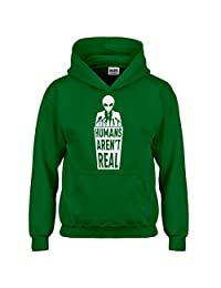Indica Plateau Humans Aren't Real Kids Hoodie