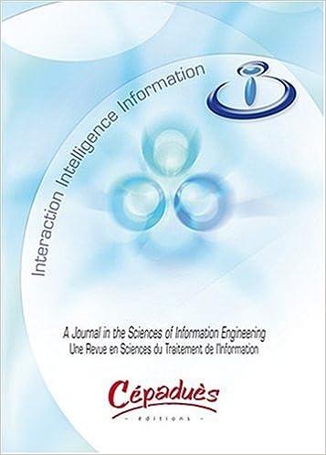 Livre espagnol gratuit à télécharger Information Interaction Intelligence-une revue en sciences du traitement de l'information-2008, Vol 8, N° 1 PDF PDB CHM